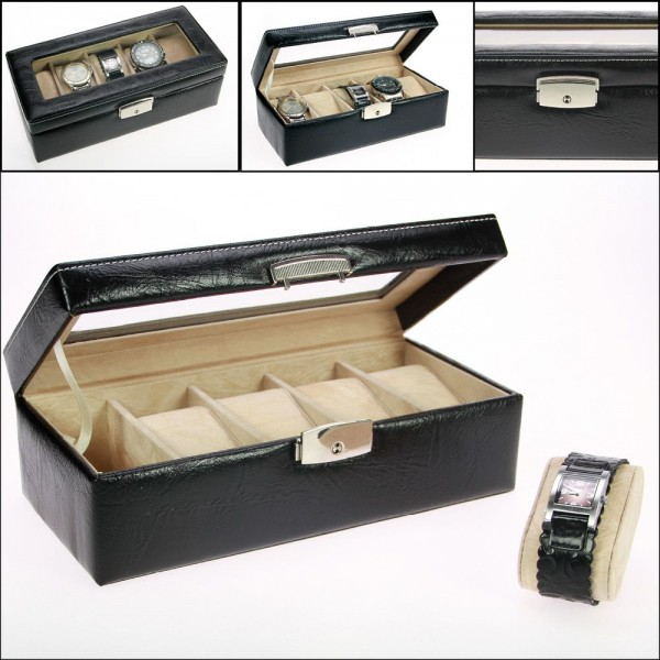 Cassettina in pelle per orologi