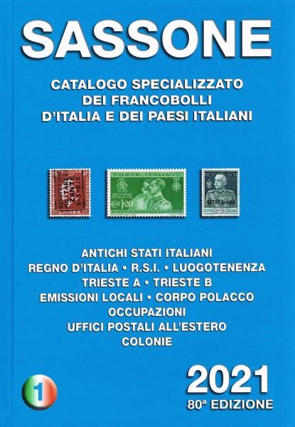SASSONE CATALOGO SPECIALIZZATO VOLUME 1 2021