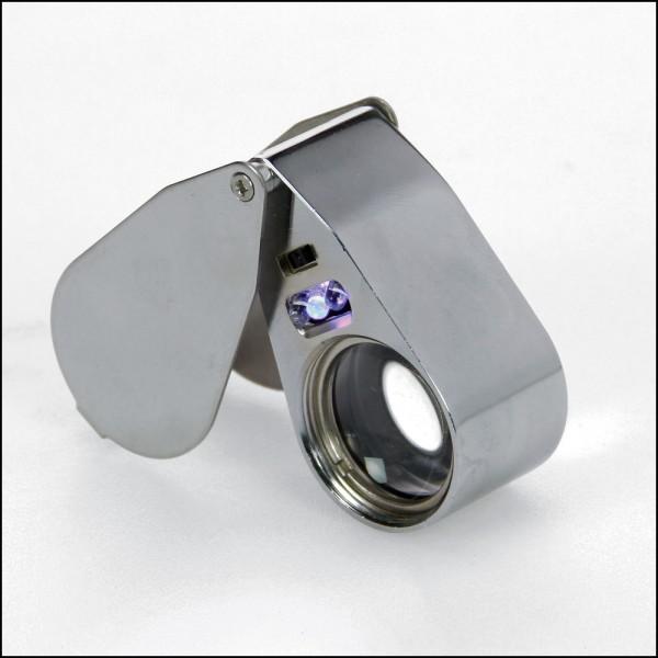 Lente di precisione in metallo con luce