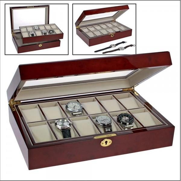 Cassetta in legno laccato per orologi
