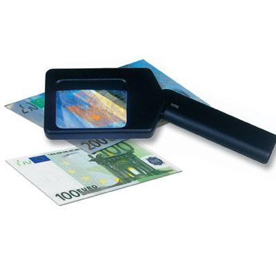 Lente UV 2,5x per francobolli, monete, banconote