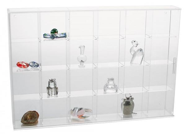 Vetrina in vetro acrilico , 24 scomparti