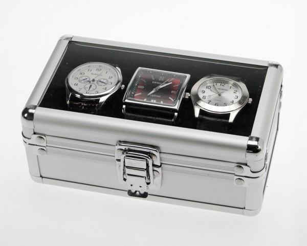 Valigetta in alluminio - per 3 orologi da polso