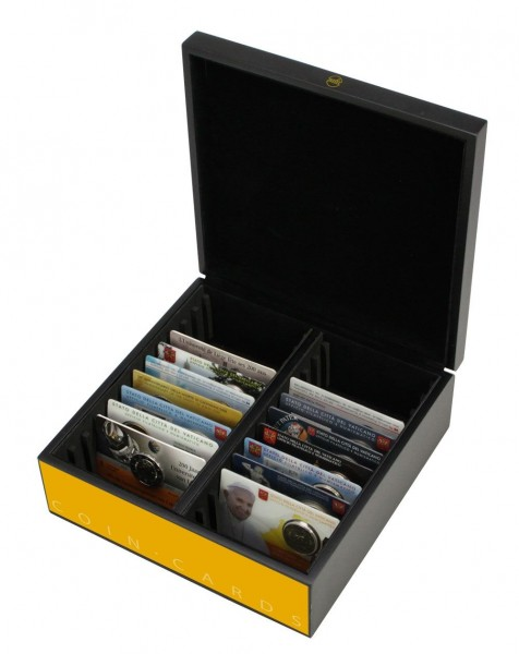 Box in legno pregiato per Coin Card