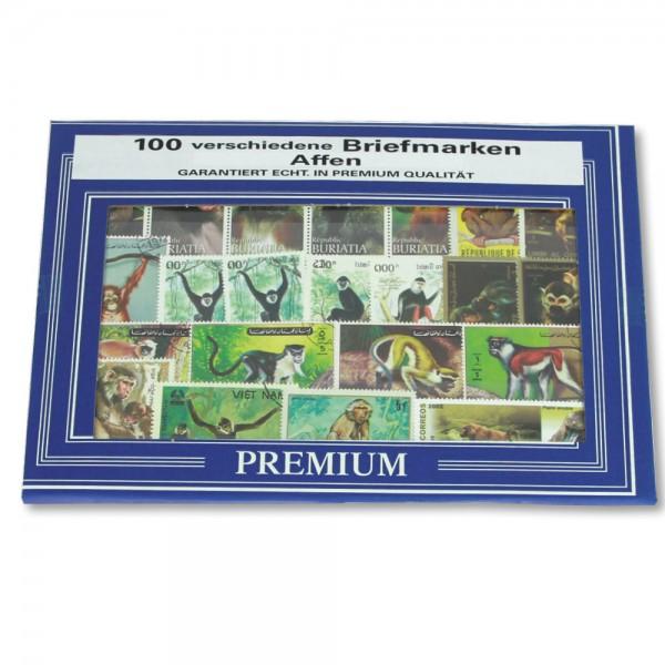 """Set di francobolli """"Scimmie"""