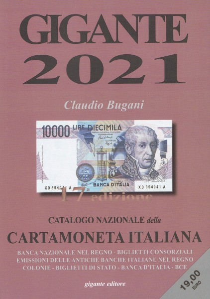 CATALOGO GIGANTE CARTAMONETA ITALIANA 2021
