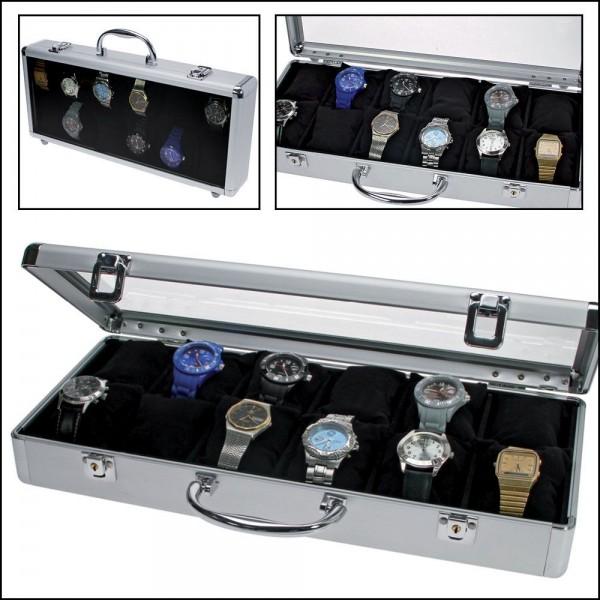 Valigia in alluminio DESIGN per 12 orologi