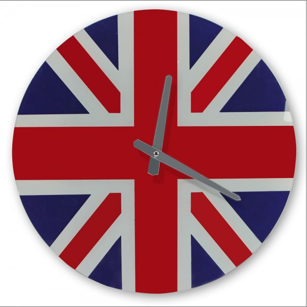 "Orologio da parete in vetro ""Union Jack"""