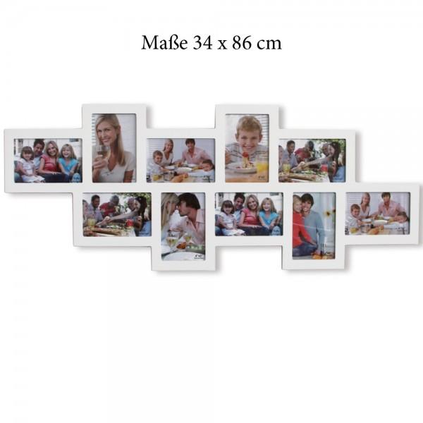 Cornice per foto Collage con 10 cornici bianco