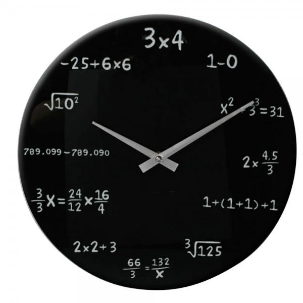 """Orologio da parete """"Matematica"""" - in vetro"""