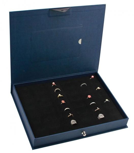 Cassetta Leonardo Blu Reale per anelli