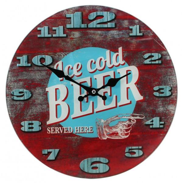 """Orologio da parete in vetro """"Cold Beer"""""""