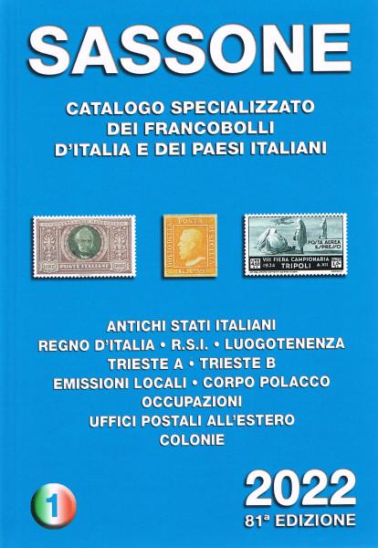 SASSONE CATALOGO SPECIALIZZATO VOLUME 1 2022