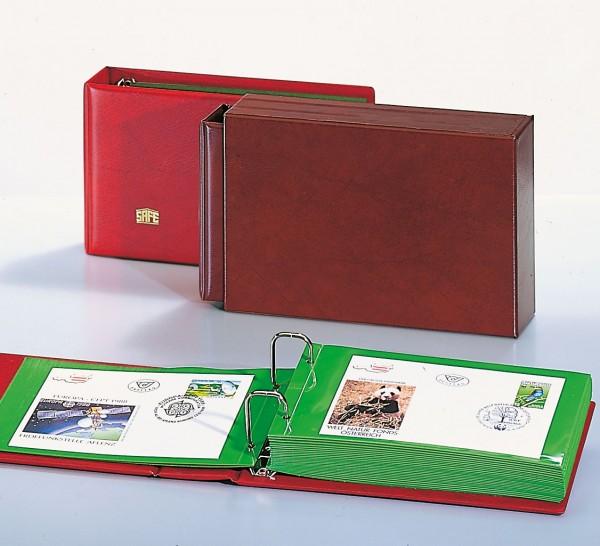 Album per lettere, FDC, cartoline con fogli trasparenti con divisorio verde