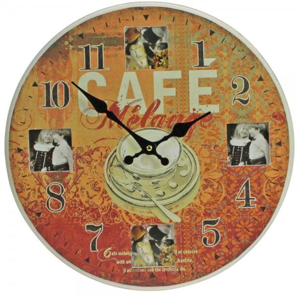 Orologio da parete Café con cornice per foto