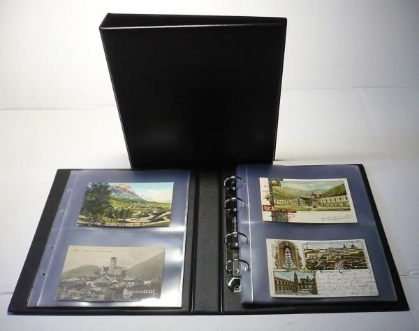 Album per cartoline con 25 fogli a 2 scomparti