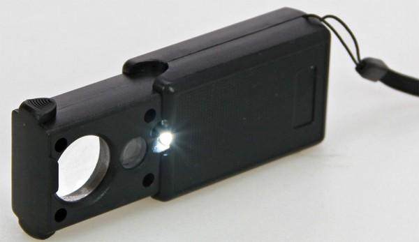 Lente d'ingrandimento a LED e lampadina UV