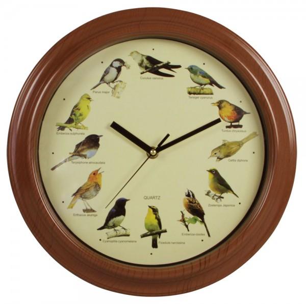 Orologio da parete con richiamo per uccelli