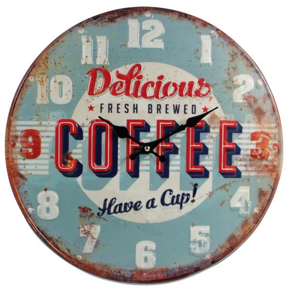 """Orologio da parete in metallo """"Caffè"""""""