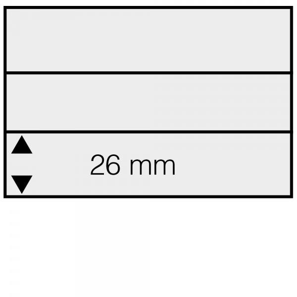 Schede Din C6 in cartoncino con 3 listelli (100 pezzi)