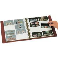 Foglio mobili per francobolli su schede francobolli