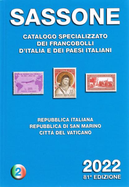 SASSONE CATALOGO SPECIALIZZATO VOLUME 2 2022