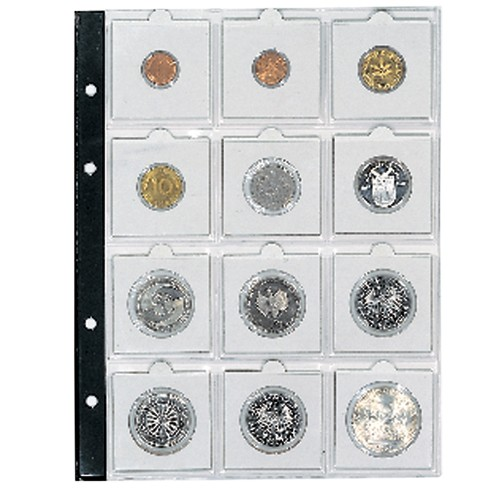Foglio 7855 per 12 monete in oblo 50 x 50 mm