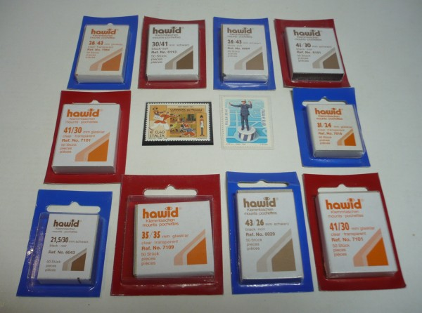 Taschine HAWID formato francobollo 28 x 39 mm