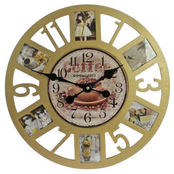 Orologio da parete con cornice per foto